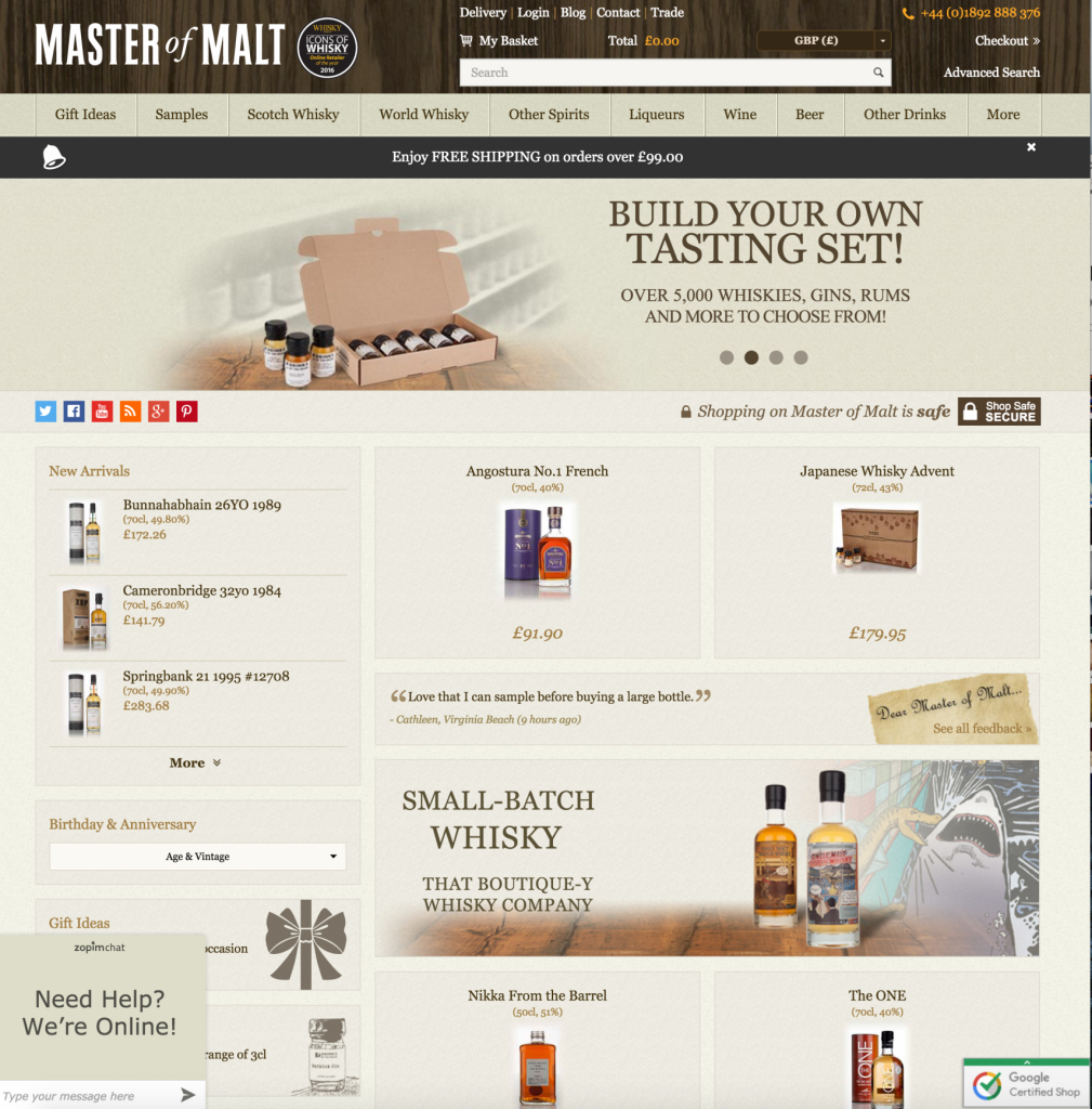 Master Of Malt have the largest collection or niche Spirits for both trade & public